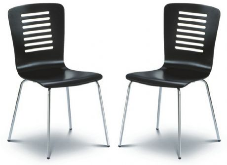 Kelso Black & Chrome Dining Chairs Sale Now On Your Price Furniture